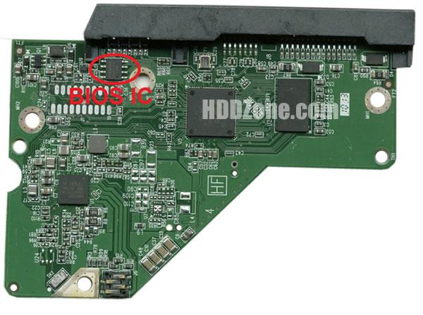 2060-771945-000 WD Hårddisk Kretskort PCB Kontrollerkort Styrkort